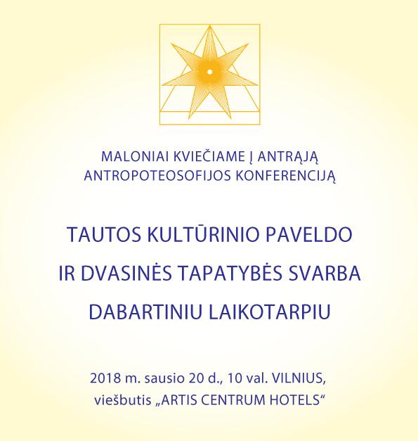 Kvietimas į antrąją antropoteosofijos konferenciją
